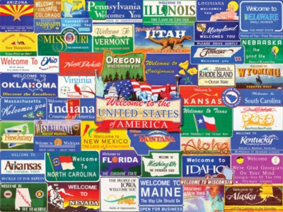 Welcome to America - 1000pc Jigsaw Puzzle by White Mountain