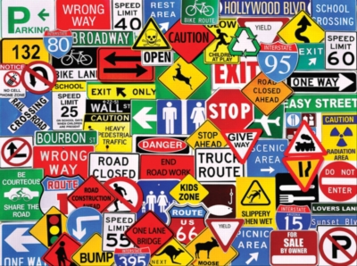 Road Signs - 1000pc Jigsaw Puzzle by White Mountain