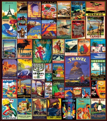 Travel the World 550 piece puzzle