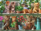 Spring Kittens - 1000pc Jigsaw Puzzle by White Mountain