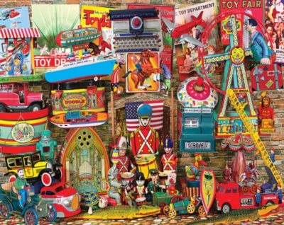 Antique Toys - 1000pc Jigsaw Puzzle by White Mountain