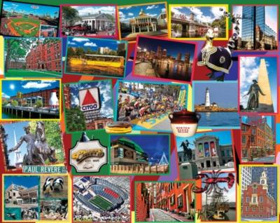 Boston Collage - 1000pc Jigsaw Puzzle by White Mountain