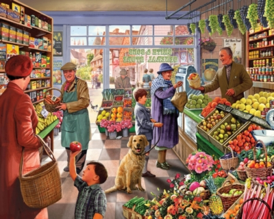 Market Day - 1000pc Jigsaw Puzzle by White Mountain
