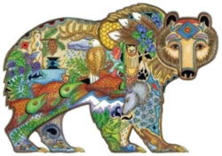Grizzly bear 300 piece coloring puzzle