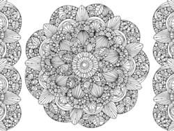 Mandala coloring puzzle