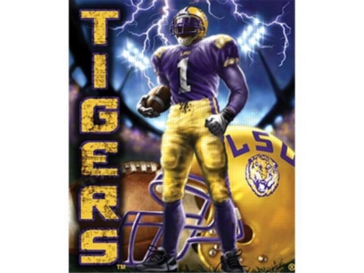Collegiate Football - LSU - 100pc Jigsaw Puzzle Pouch by MasterPieces