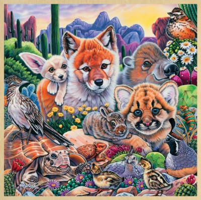 Desert Friends - 48pc Jigsaw Puzzle By Masterpieces