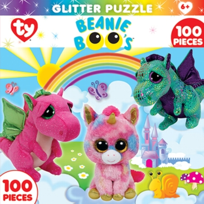 TY: Fairytale Club - 100pc Glitter Jigsaw Puzzle By Masterpieces
