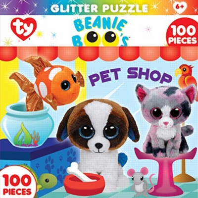 TY: Pet Shop Club - 100pc Glitter Jigsaw Puzzle By Masterpieces