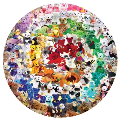 Find the Peace Beanie Baby puzzle - 700 pc round jigsaw