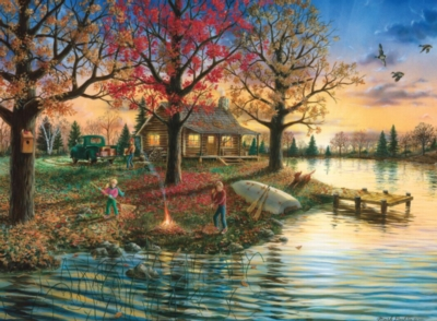 Autumn Sunset - 500pc Jigsaw Puzzle by Masterpieces