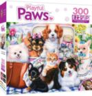 Playful Paws: Fun Size - 300pc EZ Grip Jigsaw Puzzle By Masterpieces