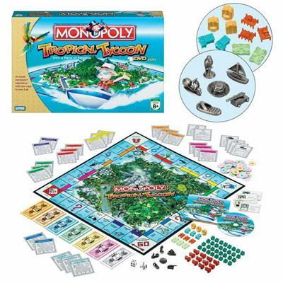 Monopoly: Tropical Tycoon Edition - DVD Board Game