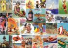 Saturday Evening Post: Beachtime Collage - 1000pc Jigsaw Puzzle By Masterpieces