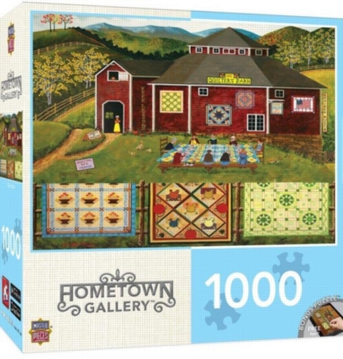 Hometown Gallery: Quilter's Barn - 1000pc Jigsaw Puzzle by MasterPieces