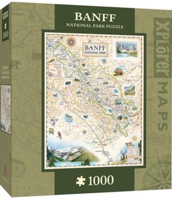 Xplorer: Banff Canada - 1000pc Jigsaw Puzzle By Masterpieces