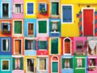 Colorful Doors - Colorluxe - 500pc Jigsaw Puzzle by Lafayette Puzzle Factory