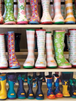 Colorful Rubber Boots - Colorluxe - 300pc Jigsaw Puzzle by Lafayette Puzzle Factory