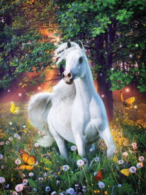 Meadow Glow - Heavenly Horses - 300pc Jigsaw Puzzle by Lafayette Puzzle Factory