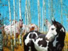 Birch Grove - Heavenly Horses - 300pc Jigsaw Puzzle by Lafayette Puzzle Factory