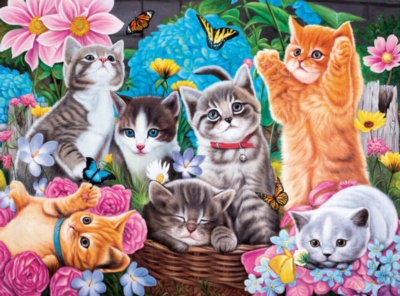 Playtime in the Garden -pc Art - 500pc Jigsaw Puzzle by Lafayette Puzzle Factory