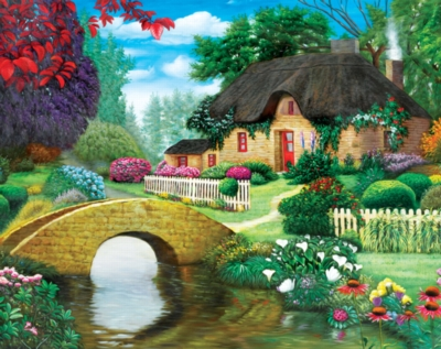 Storybook Cottage -pc Art - 500pc Jigsaw Puzzle by Lafayette Puzzle Factory