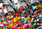Buttons, Dice and Marbles - Colorluxe - 1000pc Jigsaw Puzzle by Lafayette Puzzle Factory