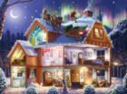 Santa on the Roof -pc Art - 1000pc Jigsaw Puzzle by Lafayette Puzzle Factory