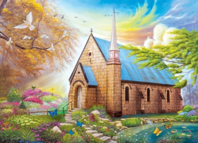Serenity Church II -pc Art - 1000pc Jigsaw Puzzle by Lafayette Puzzle Factory
