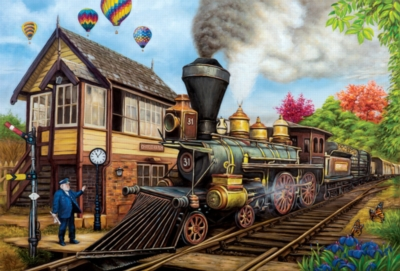 All Aboard -pc Art - 1000pc Jigsaw Puzzle by Lafayette Puzzle Factory