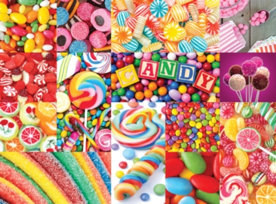 Colorful Candy - Collage Collections - 1000pc Jigsaw Puzzle by Lafayette Puzzle Factory