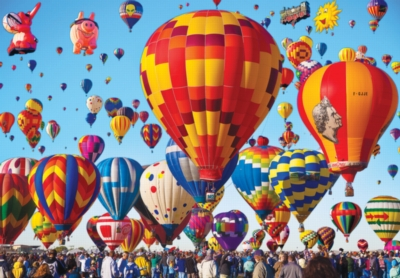 Albuquerque International Balloon Fiesta - Balloons Galore - 1000pc Jigsaw Puzzle by Lafayette Puzzle Factory