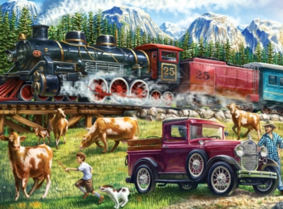 Great Western Train - Wild Country - 1000pc Jigsaw Puzzle by Lafayette Puzzle Factory