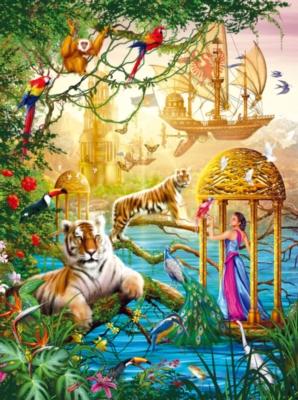 Shangri La Summer - Holographic - 1000pc Jigsaw Puzzle by Lafayette Puzzle Factory