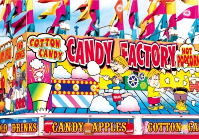 Candy Factory Fairground Concession Stand - Colorluxe - 1500pc Jigsaw Puzzle by Lafayette Puzzle Factory