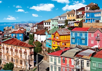 View of Colorful Buildings - Colorluxe - 1500pc Jigsaw Puzzle by Lafayette Puzzle Factory