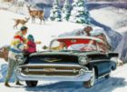 Winter Drive - 1957 Chevy Bel Air - 1000pc Jigsaw Puzzle by New York Puzzle Company