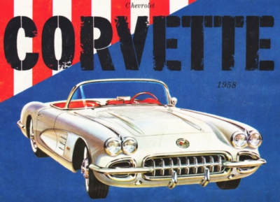 1958 Corvette Convertible - 500pc Jigsaw Puzzle by New York Puzzle Company