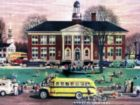 School House - 1000pc Jigsaw Puzzle by New York Puzzle Company