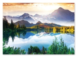 Peaceful mountains and lake 1,500 piece puzzle