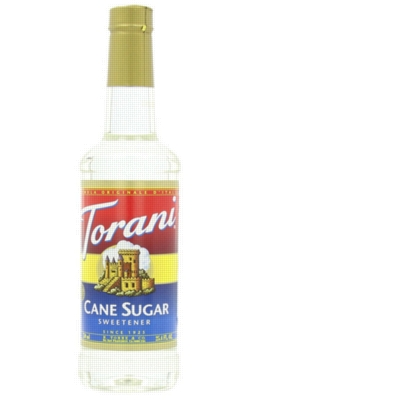 Torani Cane Sugar Sweetener - 750ml Plastic Bottle