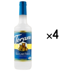Torani Sugar Free Sweetener - 750ml Plastic Bottle Case