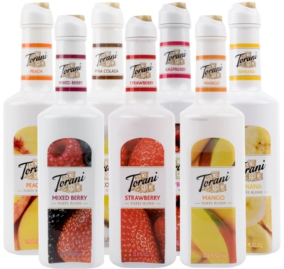 Torani Puree Blend: 1L Bottle Assorted Case