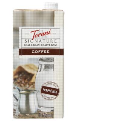 Torani Coffee Real Cream Frappé Base - 1.5L Carton
