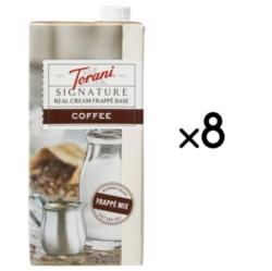 Torani Coffee Real Cream Frappé Base - 1.5L Carton Case