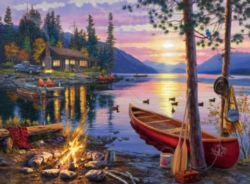 Darrell Bush: Canoe Lake - 1000pc Jigsaw Puzzle by Buffalo Games