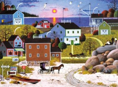 Charles Wysocki: Whalers Bay - 1000pc Jigsaw Puzzle by Buffalo Games