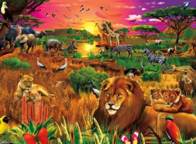 Signature: African Evening - 1000pc Jigsaw Puzzle by Buffalo Games