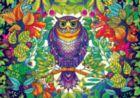SECRET GARDEN: Johanna Basford FOREST OWL - 500pc Coloring Book Jigsaw Puzzle by Buffalo Games