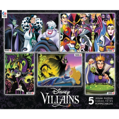 Disney Villains - 5 in 1 - 300x2,500x2,700pc Multipack Jigsaw Puzzles by Ceaco